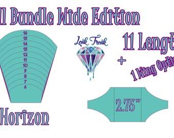 "Wide Horizon/Full Bundle/Cloth Pad Pattern/2.75"" Snapped Width/Leak Freak Compatible"