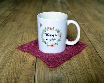 Mug witness of the Bride / Groom Cup wedding special flowers Butterfly romantic personalized gift