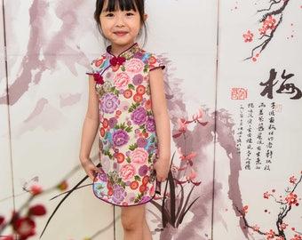 chinese style cheongsam  handmade for 1-10 girl