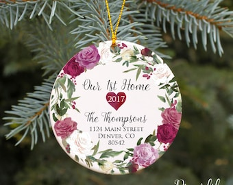 Our First Home Ornament New House Ornament Housewarming Gift Realtor Gift Our 1st Home Christmas Ornament New Home Gift Homeowner Present