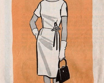 "Vintage Sheath Dress Pattern Retro Dress Pattern MAIL ORDER 9160 bust 39"" Wiggle Dress Pattern 1960s Dress Pattern Straight Dress 60s Dress"