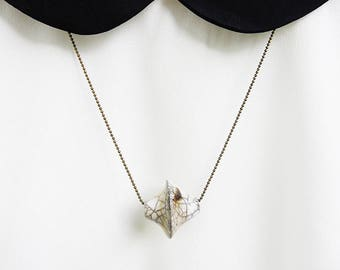 Raku Ceramic Pendant Necklace
