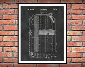 Ice Hockey Rink Patent Print - 1933 Ice Rink Design - Hockey Art Print - Hockey Player Decor - Hockey Poster - Hockey Gift - Hockey Patent