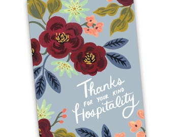 Thanks For Your Kind Hospitality Greeting Card, Thank You Card, JW, Jehovah's Witnesses, Scripture Card, JW Greeting Card, JW Gift