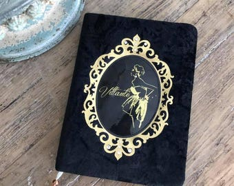 Planner 2018, note book, black with golden writting inside, personalised journal daily planner