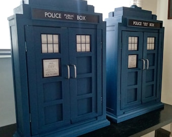 TARDIS inspired Wall-mounted Bathroom Cabinet