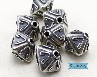 925 Bali Silver Bicone Pyramid Beads--1 Pc. | 29-BW219-1