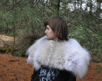 Sacred Pagan REAL Wolf Protection-Shawl With tail.
