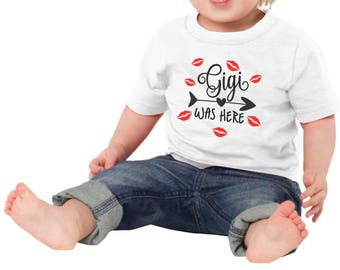 Gigi Was Here Funny Newborn Baby Girl Boy Toddler Clothes Rompers Grandparent Baby Shower Birthday Gift Idea Coming Home Outfit Valentines