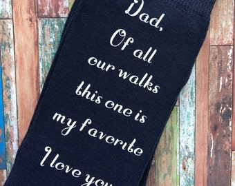 Dad Of All Our Walks This One is My Favorite Navy Blue Socks for the Wedding Day - Father of the Bride Socks