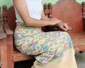 Boho Festival Wrap Skirt Thai Sarong Wrap Tie Waist  Thai Tradition Cotton Skirt Long Skirt Jupe Thai