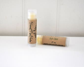 Itch Stick | Anti-Itch Relief Salve | Organic Mosquito Bite Ointment | Spider Bite Balm | First Aid Herbal Skincare | Natural | .15 oz Tube