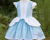 DELUXE Cinderella Inspired Dress Up Costume, Girls Princess Dress, Halloween Costume, Disney Vacation Dress, Sz 2T - 10 Every Wear