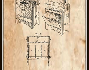 Kitchen Cabinet Patent #267654 November 14, 1882.