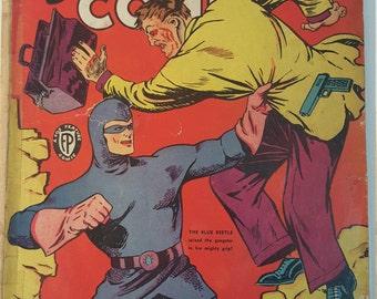 Mystery Men 18, 1941 comic book, Blue Beetle, Golden Age comics, Mystery Men Comics 18, golden age Blue Beetle, 1940s comics