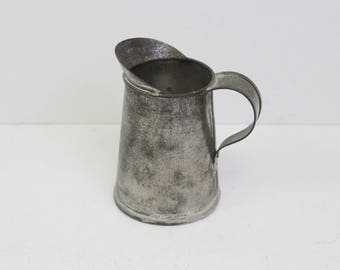 Small Pitcher by Dale the Tinker. Authentic American Colonial Reproduction. Tinware.