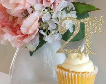 21st Birthday Cupcake Toppers | 21st Birthday Decorations | 21st Birthday | 21st Birthday Toppers | Cupcake Toppers | 21st Birthday Decor