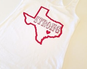 Texas Strong Racerback Tank Top, Texas Tank Top, Jersey Racerback Tank Top, Hurricane Relief Tank Top, Cute Workout Tank Top, Texas Love Tee