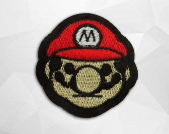 Mario Iron on Patch (M2)-Cartoon Applique Embroidered Iron on Patch- Size 6.0(W)x6.2(H) cm