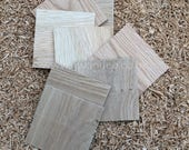 RECYCLED Blank Solid Bamboo/Oak Coasters untreated - set of 4/8