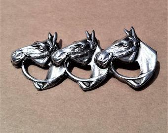 Sterling Silver Equestrian Brooch