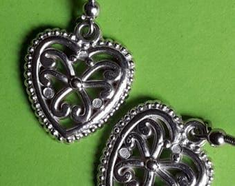 Boucles d'Oreilles Cœurs Celtiques