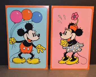 1978 Walt Disney Mickey Mouse Colorforms Sewing Cards-B