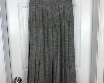 XS Grey Norton McNaughton pleated skirt