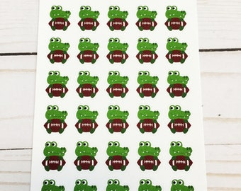 Alligator College Football Mascot Planner Stickers