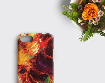 Hipster iPhone 7 Case Oil Painting Samsung Galaxy S7 Case Watercolor iPhone 6 Case - Abstract Painting Watercolour Art iPhone SE Case