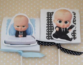 Boss Baby Party Lollipop Favors - Set of 10