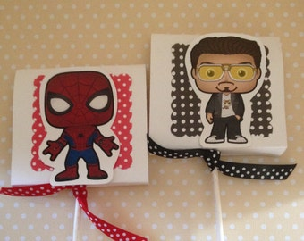 Spiderman Homecoming Party Lollipop Favors - Set of 10