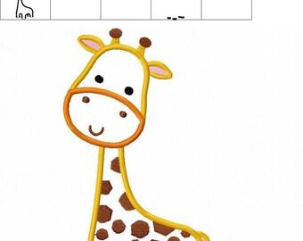 Giraffe embroidery pattern