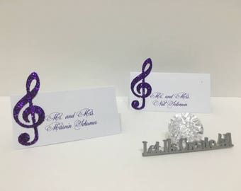 Music Place Card- Wedding Place Cards- Sweet sixteen place cards- Bridal Shower Place cards- Music Place cards