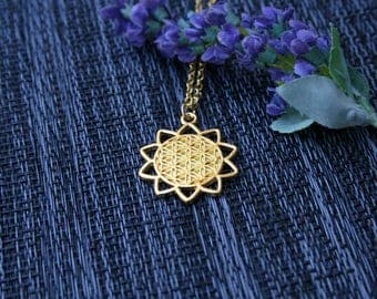 Flower Of Life Necklace - Seed of Life Necklace - Flower Of Life - Sacred Geometry - Boho