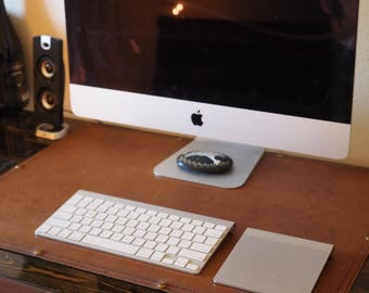 Leather Desk Pad | Leather Desk Blotter | Handmade Office Pad | Leather Writing Pad |Leather Blotter Pad | Protective Office Mat | Desk Pad