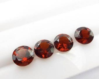 Red Garnet round cut 10 pcs lot Natural Garnet round cut faceted loose gemstone for jewelry