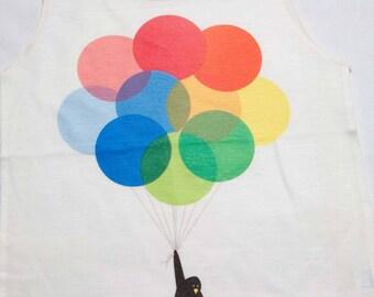 Penguin Balloon kids tank top ktt-16
