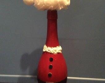 Wine Bottle Santa