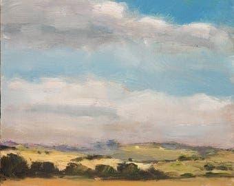Small, Landscape, Oil  Study II - oil, painting, fine Art