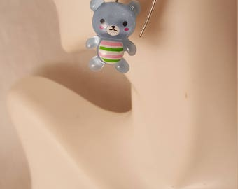 Kawaii teddy bear earrings  (ER083)