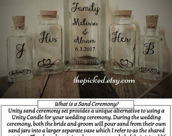 Blended Family Sand Ceremony Unity Set Our Wedding Marriage Commitment