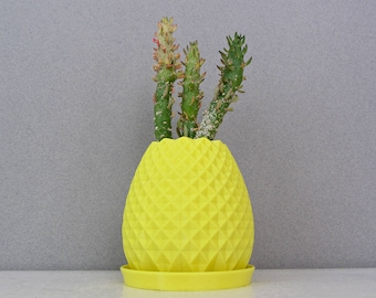 Succulent planter / 3D Printed Planter / Pineapple Planter / Fruit Planter / Pineapple Pot / Gift for her / Birthday Gift / Christmas Gift