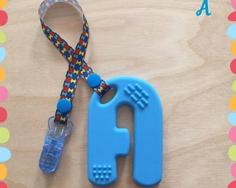 Autism Diamond / toy / teething / sensory / Silicone / chew / autism / Clip