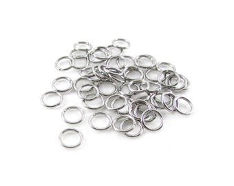 50pcs, 6mm Stainless Steel Jumprings, 20ga, Stainless Jump Rings, Stainless Steel Jump Rings Open Round Jump Rings Connectors, Chainmail