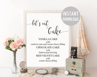 wedding cake flavour sign wedding cake table etsy 22662