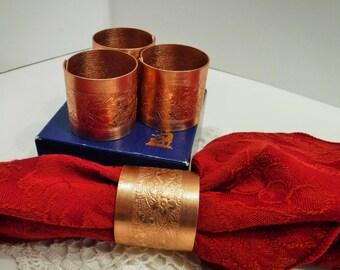 Copper Napkin Rings Etsy