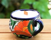 Mexican Pottery Soy Candle - Tropical Fruit & Citrus Scent
