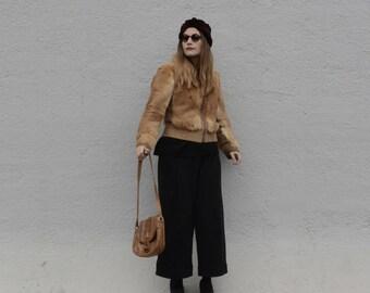 Vintage 70 jacket in red fox fur