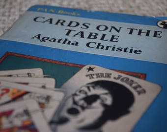 Cards on the Table. Agatha Christie. Hercule Poirot. Pan Books. A Vintage Paperback Book. 1951